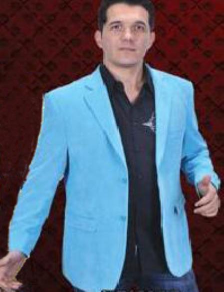 Cotton/Rayon 2 Button Style Sport Coat Notch Lapel Side Vents Light Blue ~ Sky Blue
