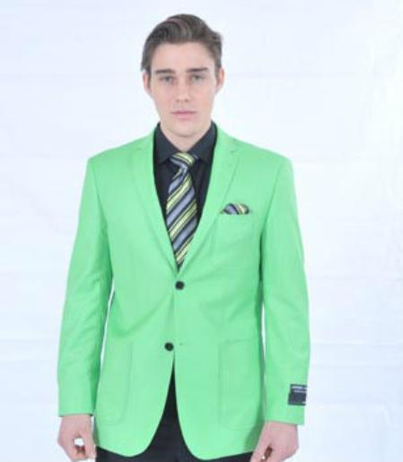 Product# LMK82 Fitted Premium lime mint Green Blazer Online Sale