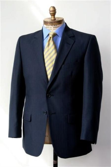 Product# KA1248 2 Button Style Big and Tall Size Blazer Online Sale 56 to 80 Wool Fabric Suit Navy