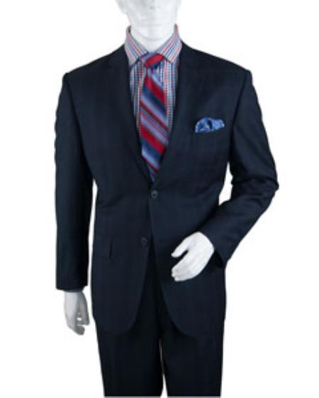 men's Two Buttons Plaid ~ Window Pane Athletic Cut Suits