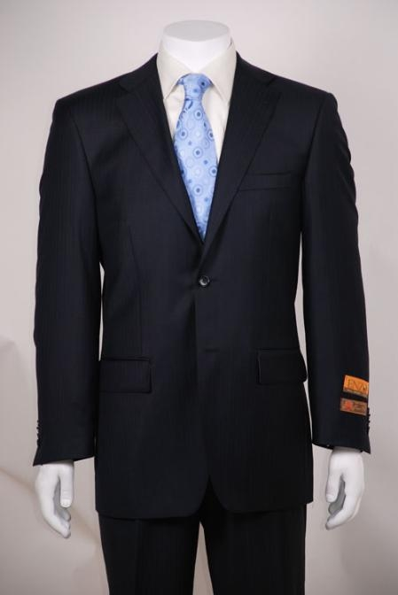 Product# SR324 Navy Tone on Tone 2 Button Style Vented without pleat flat front Pants