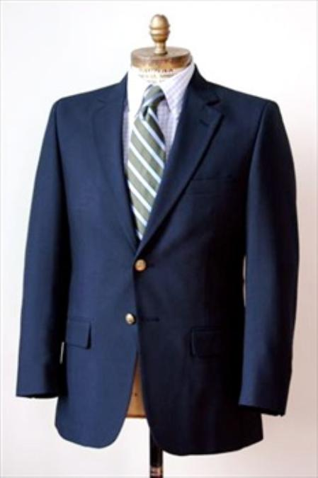Product# HN5634 2 Button Style Big and Tall Size Blazer Online Sale 56 to 80 Wool Fabric Suit Navy