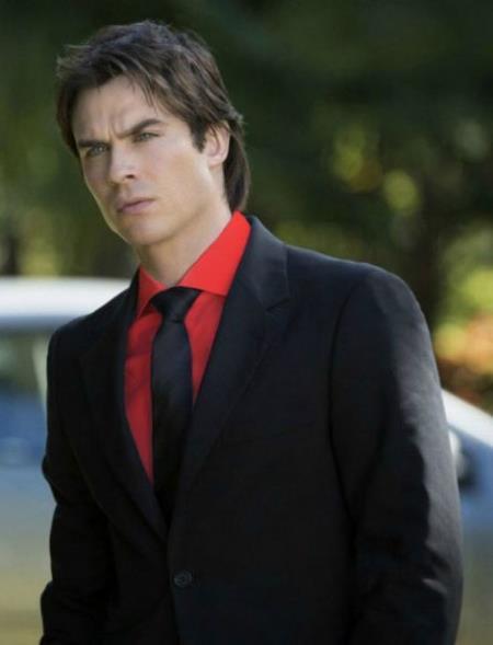 Mens Black Suit Red Shirt Black Tie Package Deal As Seen