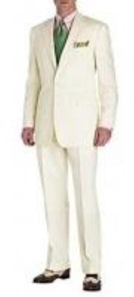 Product# VF6298 Suit Ivory 2-Button Style Perfect For Wedding Jacket and Pants