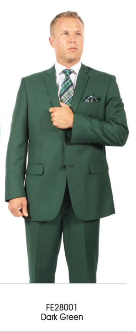 2 Button Style Hunter ~ Dark Army Green ( Olive ) Suit