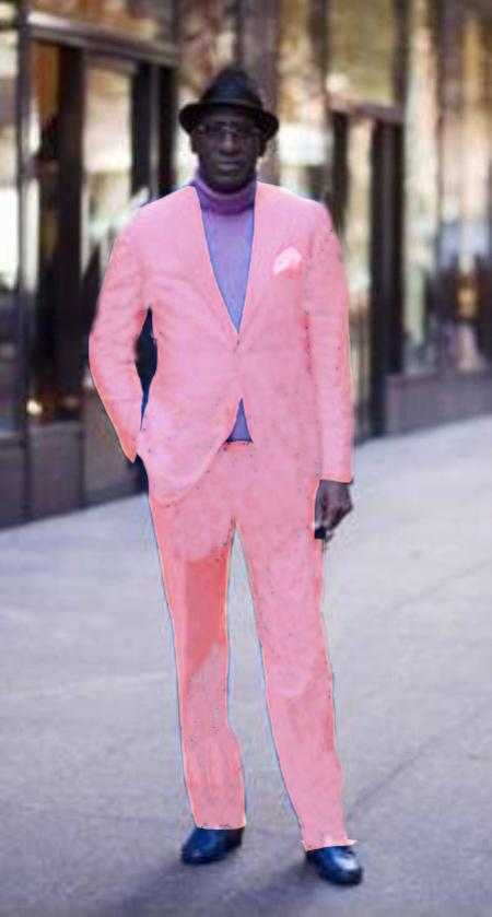 Classic Ultra Smooth 2 Button Style Suit Light Pink Suit