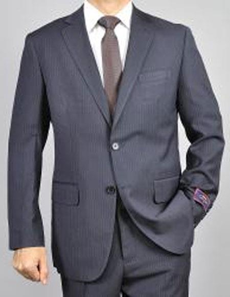 Mens pinstripe Two Buttons