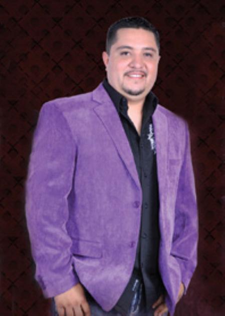 Product# PRL5411 Cotton/Rayon 2 Button Style Sport Coat Notch Lapel Side Vents Purple color shade