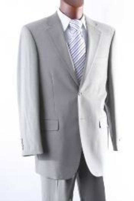 Product# VF8493 2 Button Style 100% Wool Fabric Athletic Cut Suits Classic Fit  for Men W Single Pleat Pants greenish color with some hint of Gray