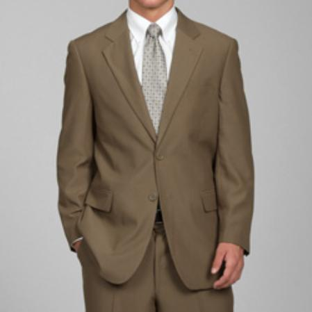 TYU72 Carlo Lusso Taupe 2-Button Suit