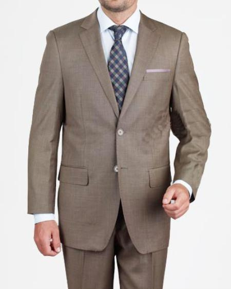 HX2754 2 Button Style Dark Taupe Suit