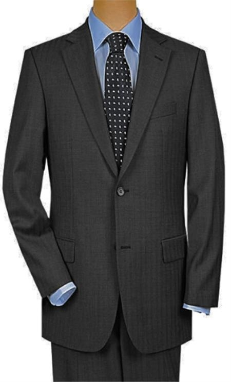 Product# QM9911 2 Button Style Superior Fabric 150's Wool Fabric Luxury Gray Shadow Stripe ~ Pinstripe Suit