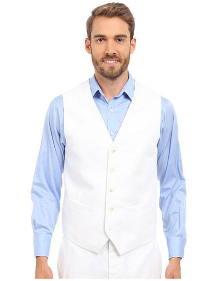 Mens Five Buttons V-neck
