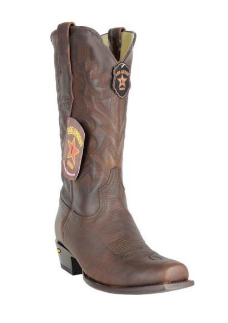 Product# JSM-4225 Men's Genuine Premium Leather Handmade Los Altos 7 Toe Walnut Cowboy Boots