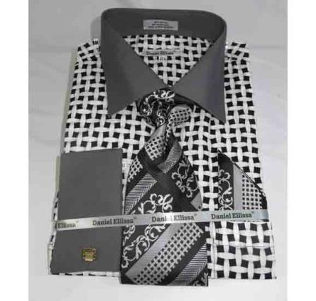 Mens Cotton Black White