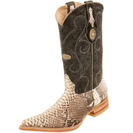Wh-Dimond Western Cowboy Boot