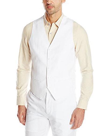 Mens Linen Vest &