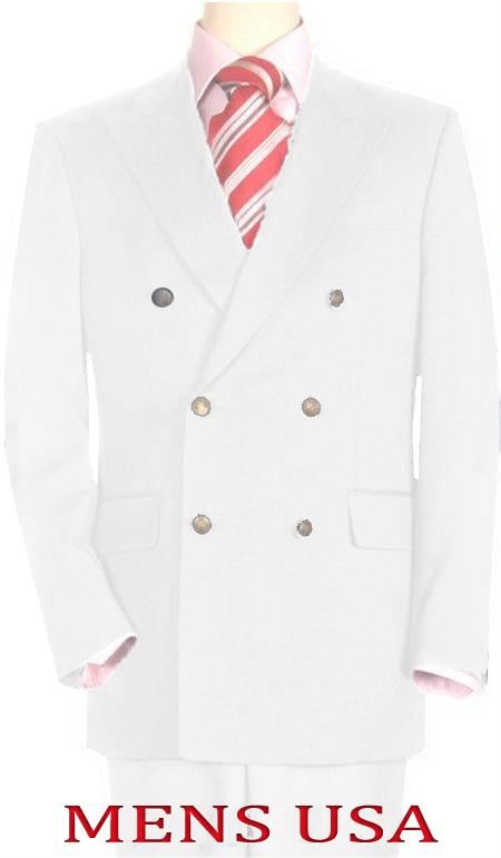 Product# Whe478 High Quality Snow White Double Breasted Blazer Online Sale Dinner Jacket