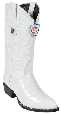 Product# BE7856 Wild West White Eel Cowboy Boots