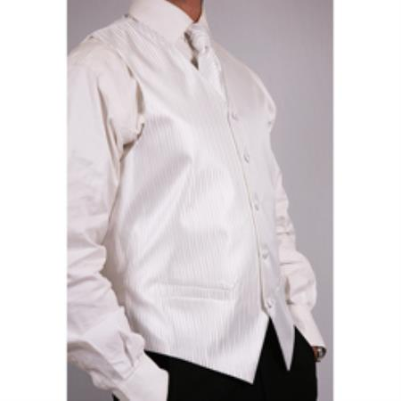 Product# PN11 White Four-Piece Vest Set