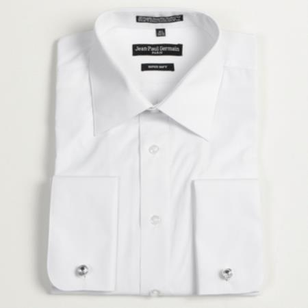 Product# FR-1865 White French Cuff Big & Tall Dress Shirt