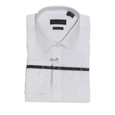 Product# TKQ7399 Modern-fit Dress Shirt White