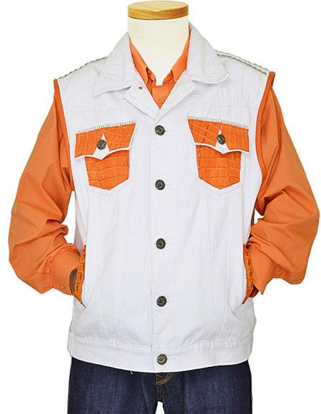 G-Gator Mens White/Orange Genuine