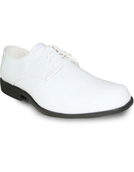 Product# JSM-6065 Men's Tuxedo White Patent Oxford Formal for Prom & Wedding Lace Up Dress Mens Shoes