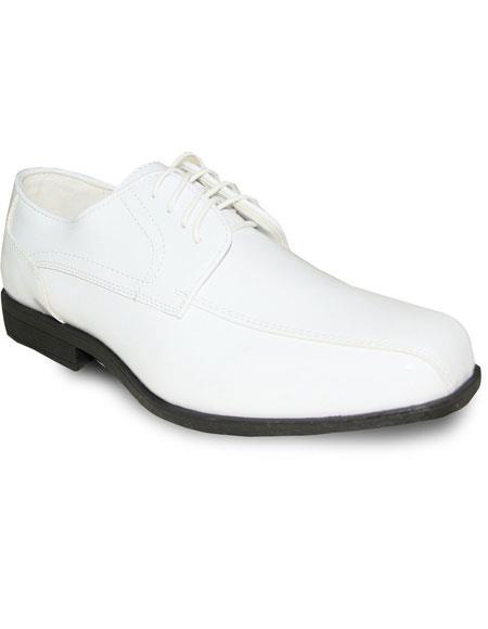 Mens Oxford Tuxedo White