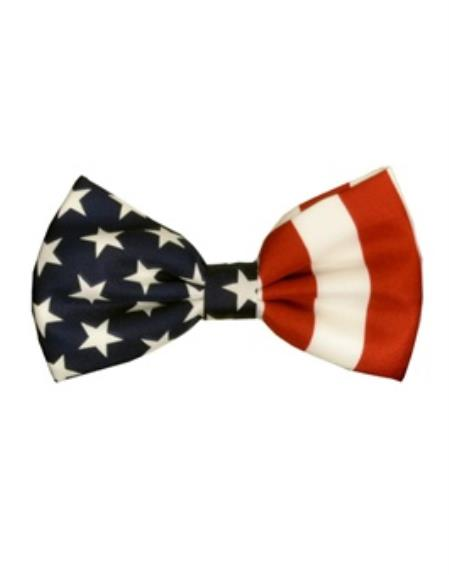 Mens White/Red/Blue American Flag