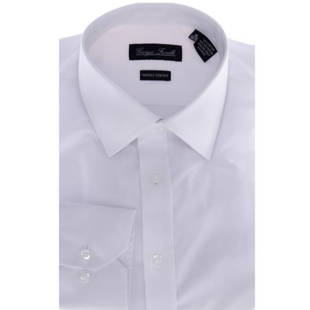 White Slim-Fit Dress Shirt
