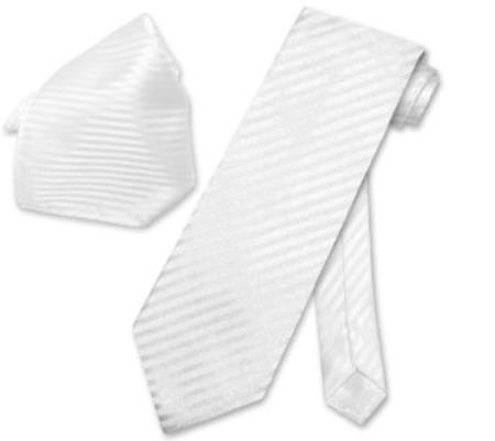 White Striped NeckTie &
