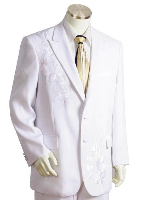 JK1412 3 Buttons Style Suit Style Comes in White