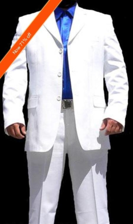 Suit White 3 Buttons