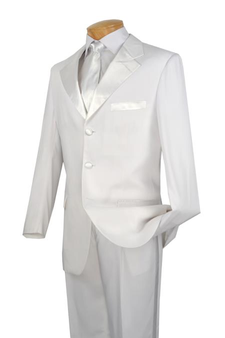 White Tuxedo 2 Piece 3 Button Style Collection