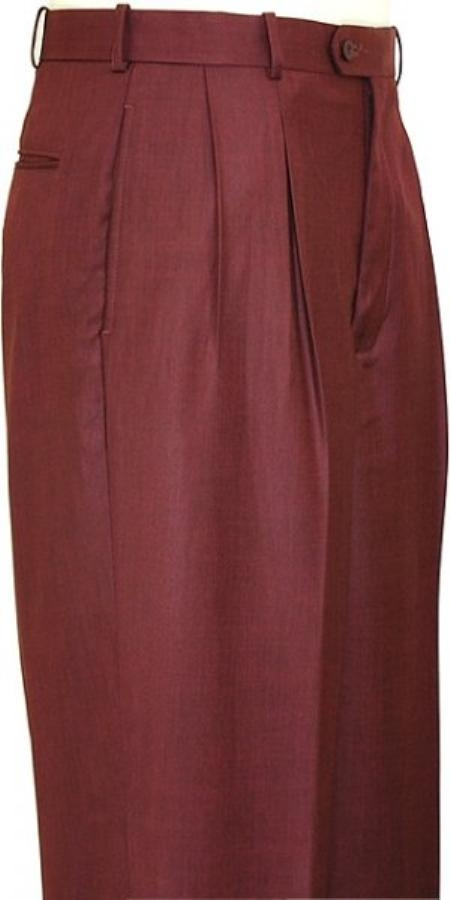 Wine Wide Leg Slacks