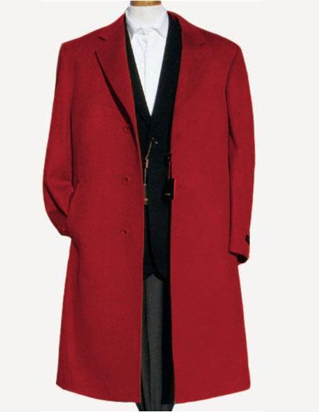 Mens Dress Coat Red