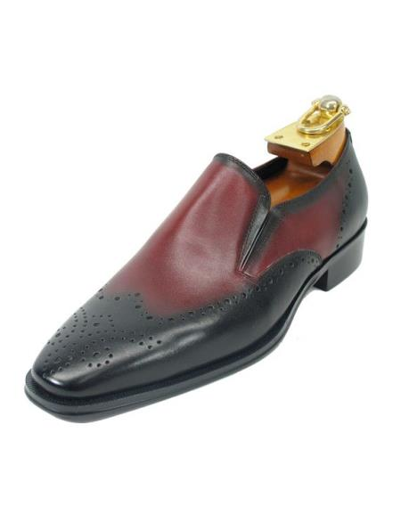 Mens Black / Burgundy
