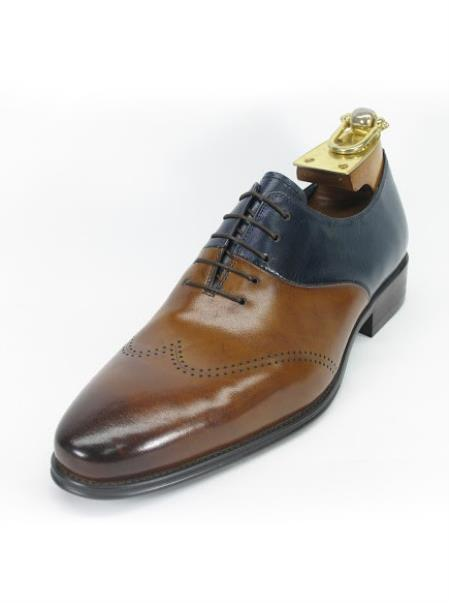 Mens Brown/Navy Two Toned
