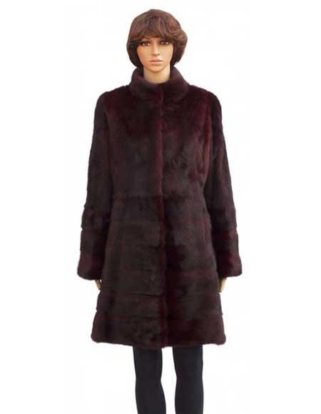 Burgundy Fur Genuine Mink