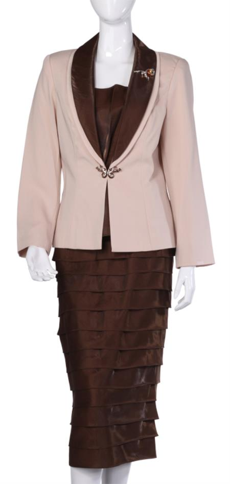 Product# WO-111 Wo Dress Set brown color shade