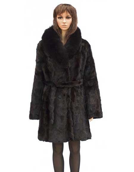 Fur Genuine Mink Brown