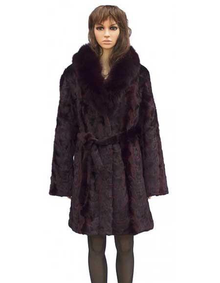 Fur Burgundy Mink Front