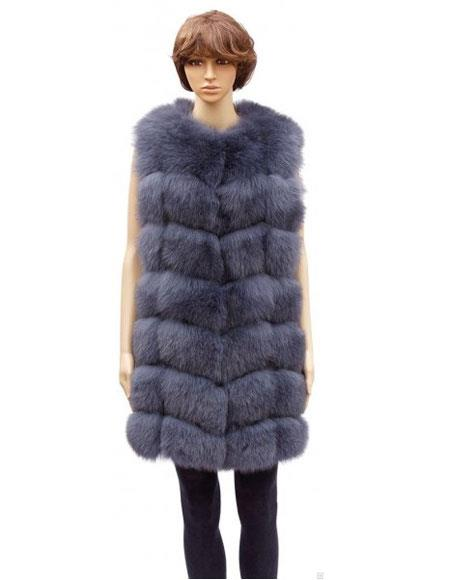 Fur Genuine Mink Grey