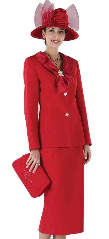 Dress Set red color