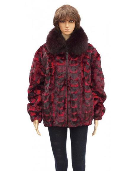 Fur Red Sheared Genuine