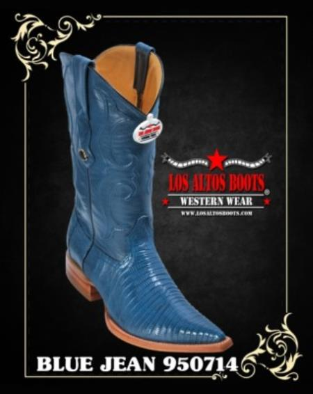 Product# RV35 3X-Toe Lizard Teju Cowboy Boots by Authentic Los altos