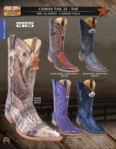 Product#RGN65 Authentic Los altos XXX 3X Toe Genuine cai ~ Alligator skin Tail Western Cowboy Boots