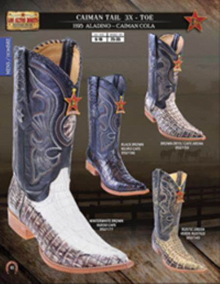 Product# F5F2 Authentic Los altos  3X Toe Genuine cai ~ Alligator skin Tail Western Cowboy Boots Diff.Colors/Size
