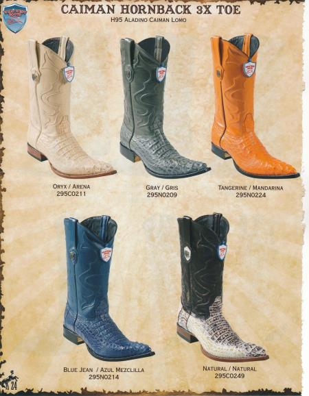 Product# EEE3 3X-Toe cai ~ Alligator skin Hornback Cowboy Western Boots Diff. Colors/Sizes